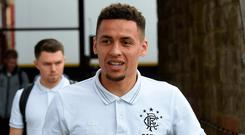 Targeted: James Tavernier shared message received