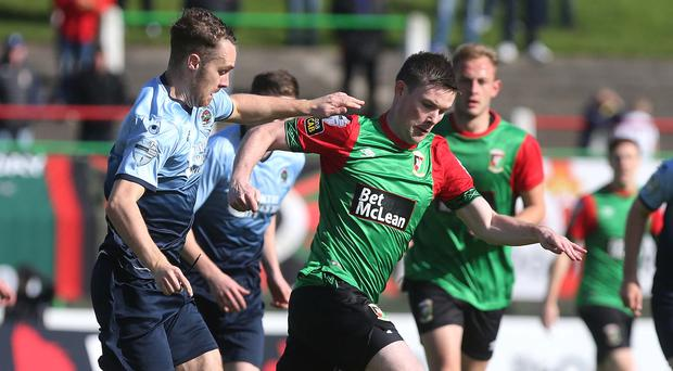 Glentoran and Institute are playing for seventh place on the final day of the Danske Bank Premiership season.