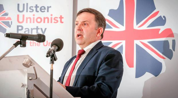 Leader Robin Swann launches the Ulster Unionist Party's election manifesto