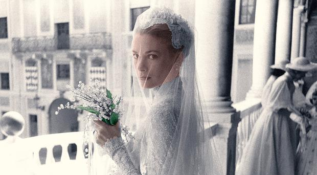 Grace Kelly on the day of her wedding to Prince Rainier III in 1956