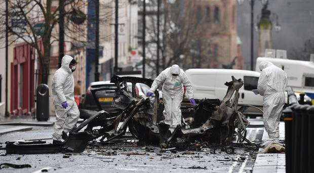The New IRA carried out a car bomb attack in Londonderry in January and was responsible for the murder of Lyra McKee earlier this month.