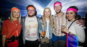 27 Apr 2019 People out at the SSE Arena in Belfast for the Biggest 80s/90s Disco. (Liam McBurney/RAZORPIX)