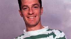 Roaring Lion: Stevie Chalmers during his playing days at Celtic