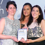 Digital 24/Babocush won Best Use of Digital/Social Media sponsored by Saville Audio Visual last year. Cara Pennell, office manager, Saville Audio Visual, presented the award to Niamh Taylor, Kelly Neill, Carolyn Henderson, Kirsty Nixon and Kerry Grugan from Digital 24