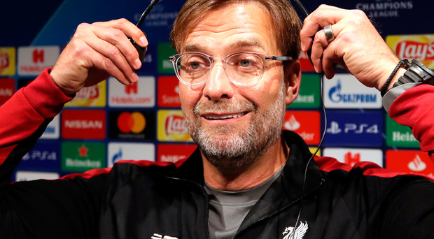 Listen up: Jurgen Klopp speaks to the media ahead of the first leg of Liverpool's semi-final clash with Barcelona