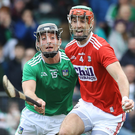 In frame: Limerick's Pat Ryan and Stephen McDonnell of Cork