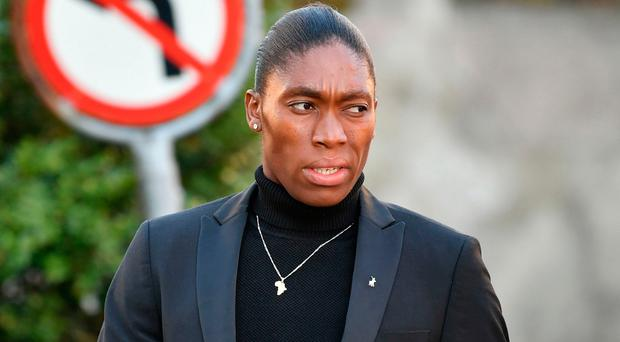 Caster Semenya arrives for a landmark hearing at the Court of Arbitration in Lausanne (Harold Cunningham/AFP/Getty Images)