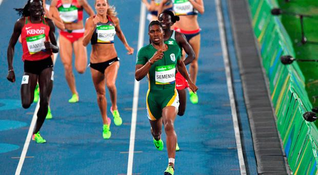 Caster Semenya at the 2016 Olympic Games in Rio