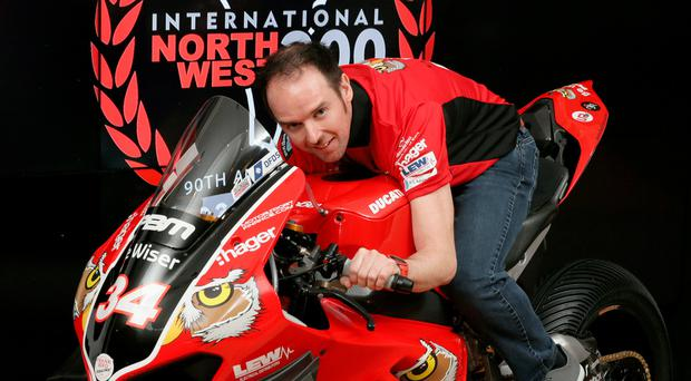 Signed and Seel-ed: Alastair Seeley on the PBM/Be Wiser Ducati he will race at the North West