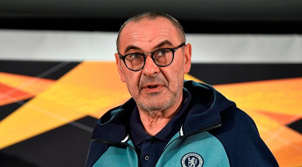 Injury woes: Maurizio Sarri has just two fit centre-halves