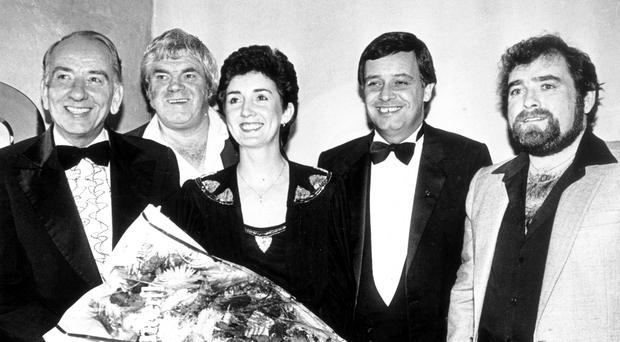 Great memories: Hugo (far right) with, from left, Don O'Doherty, Big Tom, Anne Breen and Gene Fitzpatrick at a charity event in Londonderry
