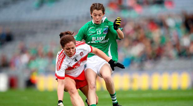 Hot shot: Fermanagh's Eimear Smyth (right) could upset Antrim bid