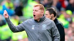 Rallying call: Neil Lennon wants to win the league with a victory