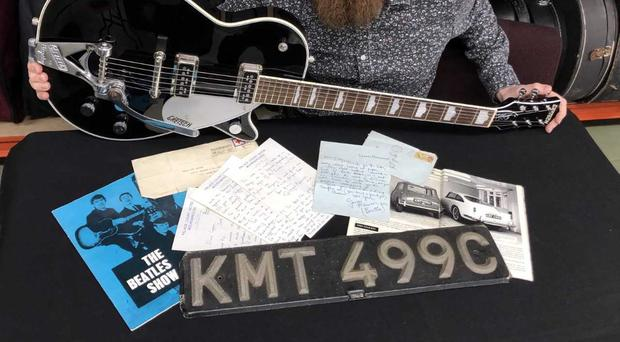 Items connected to George Harrison will go under the hammer (Gardiner Houlgate/PA)