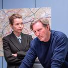DCS Patricia Carmichael (Anna Maxwell Martin) interrogates Ted Hastings (Adrian Dunbar) during the series finale of Line of Duty