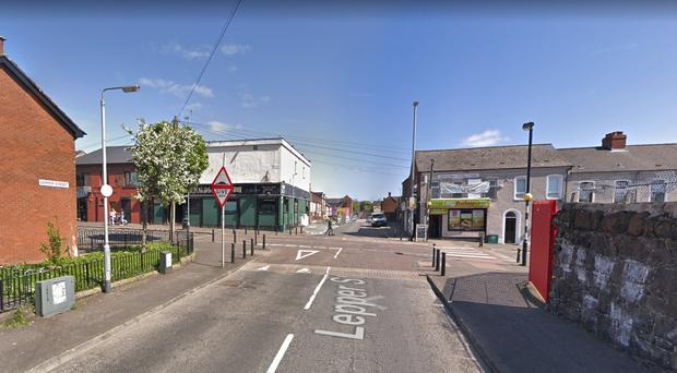 A suspect device was been discovered in Lepper Street in the New Lodge area of Belfast. Credit: Google Maps.