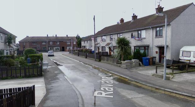 The attacked happened at a house in Ravara Close in Newtownards on Sunday. Credit: Google Maps