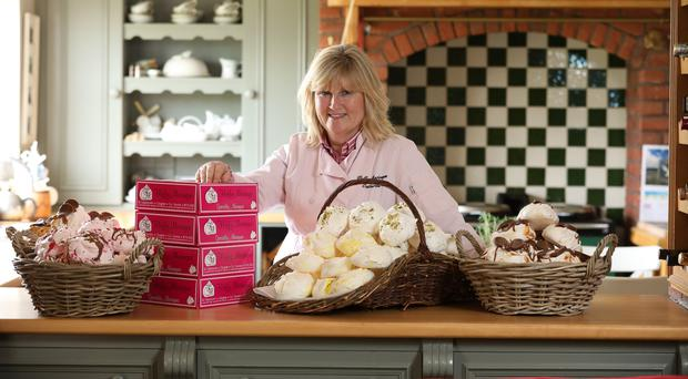 Catherine Finnegan of The Fluffy Meringue with some of her produce