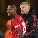 Frustrating time: Ashley Young and Ole Gunnar Solskjaer agree that Manchester United simply haven't been good enough