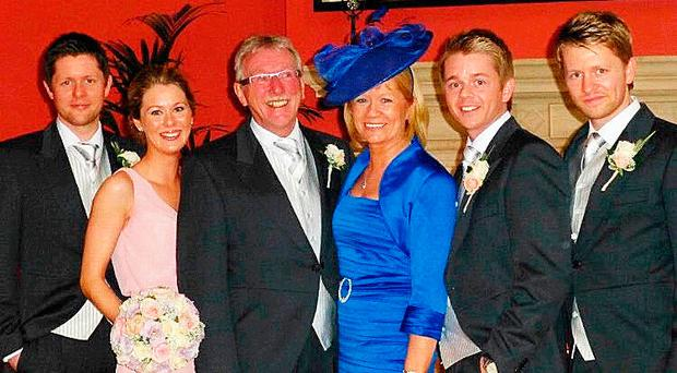 The late Seamus Close with his wife Deirdre, daughter Natasha and sons Christopher, Brian and Stephen
