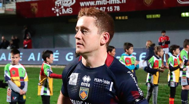 Moving on: Paddy Jackson has left Perpignan and will join London Irish for next season