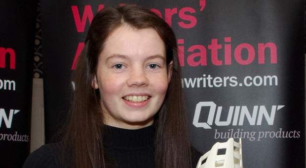 Write stuff: Eimear Smyth shows off her award
