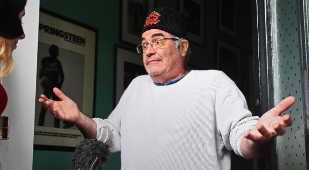 Danny Baker speaks after he was fired by BBC Radio 5 Live (Victoria Jones/PA)