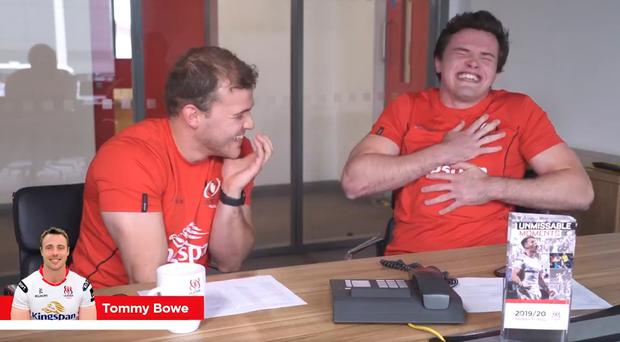 Ulster's Will Addison and Jacob Stockdale prank call Tommy Bowe