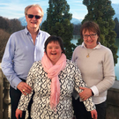 Proud parents: Bishop Patrick Rooke, wife Alison and daughter Susanna in Salzburg