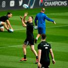 Hold on: Johnny Sexton catches the ball during the Leinster captain's run at St James' Park, Newcastle yesterday ahead of this evening's Champions Cup Final