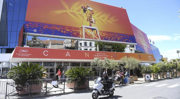 A view of the Palais des festivals during the 72nd international film festival in Cannes (Arthur Mola/Invision/AP)