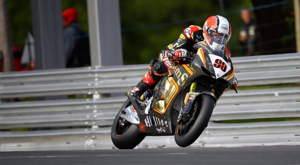 Milestone: Michael Rutter with the No.90 plate he will run at the North West 200