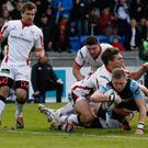 Sore point: Finn Russell scores against Ulster in the 2015 semi