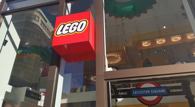 Lego's flagship store in Leicester Square, London, will open at midnight to launch a new mystery set (Caitlin Doherty/PA)