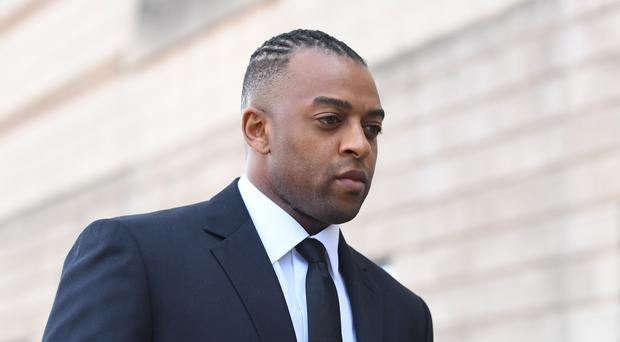 Former JLS star Oritse Williams arrives at Wolverhampton Crown Court (Joe Giddens/PA)