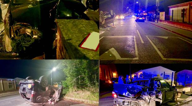 Three people were injured in the crash. Credit: PSNI Magherafelt Facebook