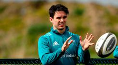 Right at home: Joey Carbery has enjoyed his time both on and off the pitch since joining Munster
