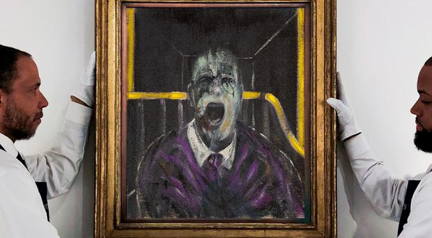A Francis Bacon painting considered one of his most important left in private hands has sold at auction (Sotheby's/PA)