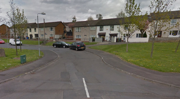 The incident occurred in the Aspen Walk area of west Belfast.