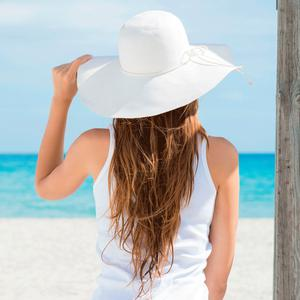 Heat hazard: the sun can quickly dry out your hair