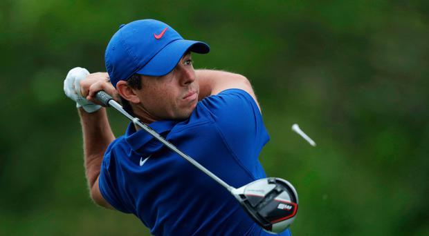 No joy: Rory McIlroy during his final round at Bethpage