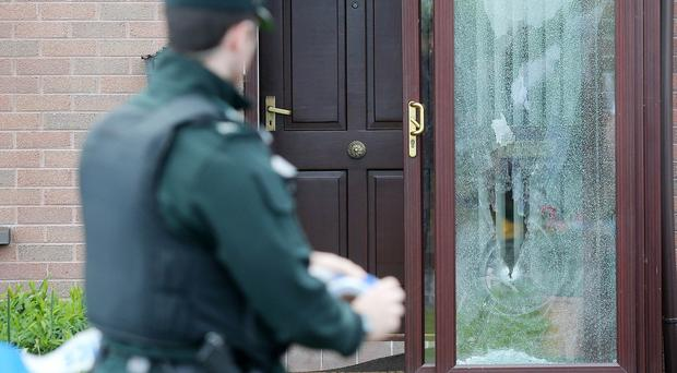 The scene on the Ballynamoney Road outside Lurgan where shots were fired at a house. No one was injured in the attack which happened in the early hours of Monday morning. Credit: Jonathan Porter/PressEye