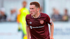 Top talent: Bobby Burns in action for Hearts