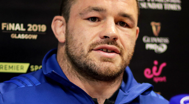 Moving on: Leinster's Cian Healy talks to the media