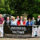 Members and supporters of the Redress For Victims group were protesting at the Garden Party at Castlecoole. Picture: Ronan McGrade Pacemaker