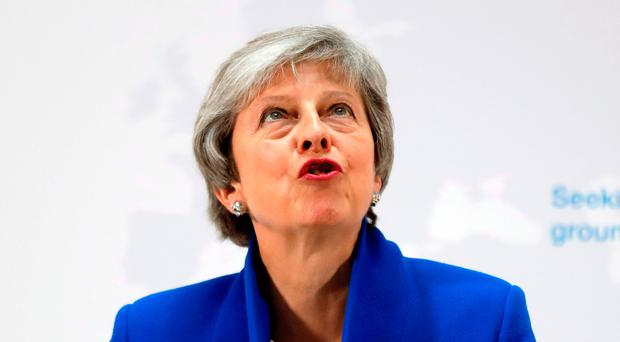 Theresa May during her speech
