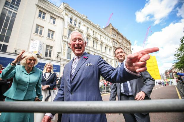 The Prince of Wales and Duchess of Cornwall are pictured meeting people in Belfast City Centre as part of their 2 day visit to Northern Ireland. Picture Matt Mackey / Press Eye.