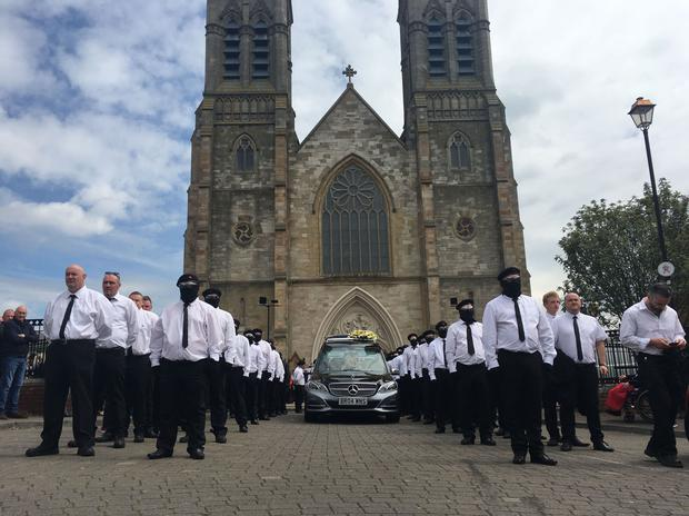 The funeral of Martin McElkerney.