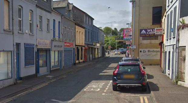 The man was found injured in the Point Street area of Larne. Credit: Google