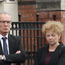 Gerry Kelly and Caral Ni Chuilin at the funeral of Martin McElkerney.